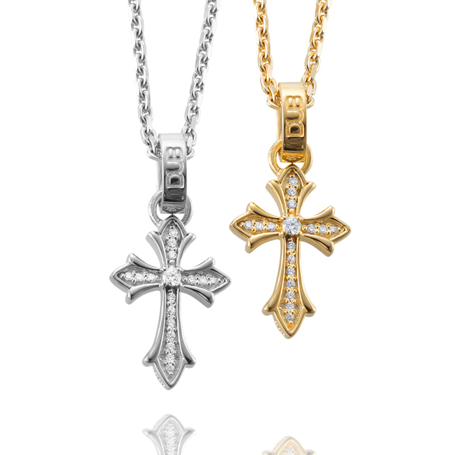 【DUB collection】Double face -Cross- Pair Necklace ダブルフェイス - クロス - ペア ネックレス DUBj-266-Pair【ペア】那須泰斗くん着用アイテム!