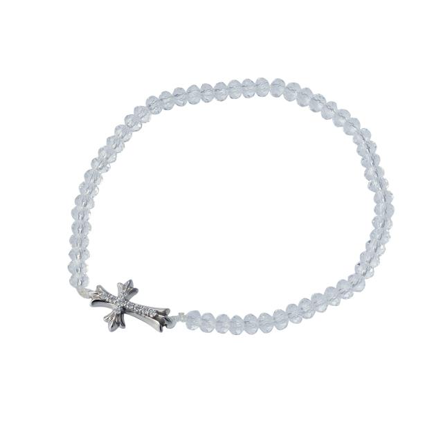 【DUB Collection│ダブコレクション】Stone Cross Bracelet|DUBj-293-2【ユニセックス】
