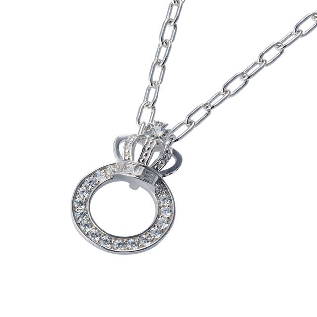 【DUB Collection│ダブコレクション】Crown ring Necklace クラウンリングネックレス DUBj-296-2【ユニセックス】