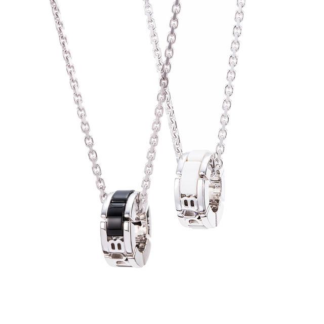 【DUB Collection│ダブコレクション】 Onyx brick オニキス ブロック DUBj-350-1-2【ペアネックレス】