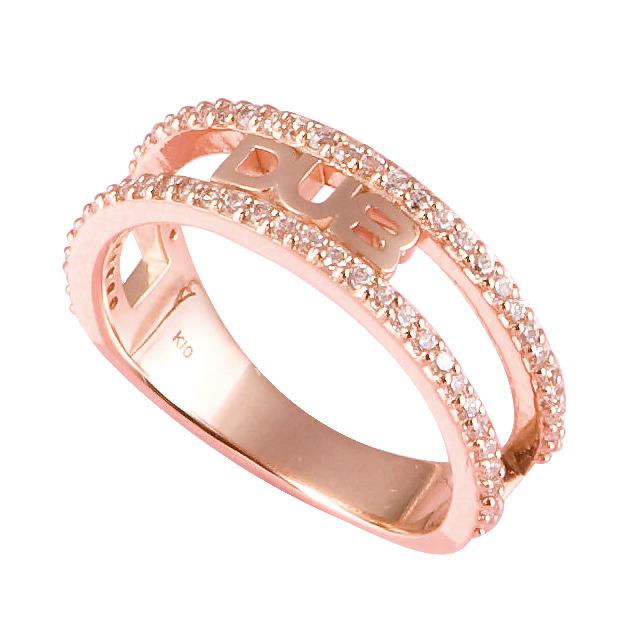 【DUB Collection Sweet|ダブスウィート】Shine open work mini Ring K10 シャインオープンワーク-ミニ-リング DUBjp-2 【レディース】