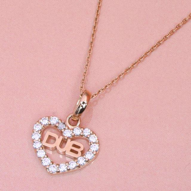 【DUB Sweet|ダブスウィート】Open heart Necklace オープンハートネックレス DUBjp-7【レディース】