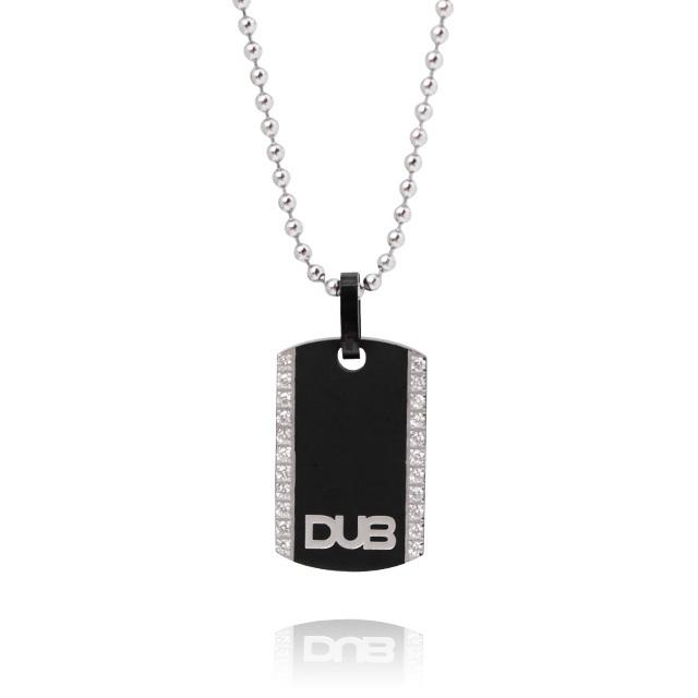 【DUB Collection│ダブコレクション】  DUBJSS-12BK stainless necklace ステンレスネックレス ドッグタグ型 WHCZ プレート