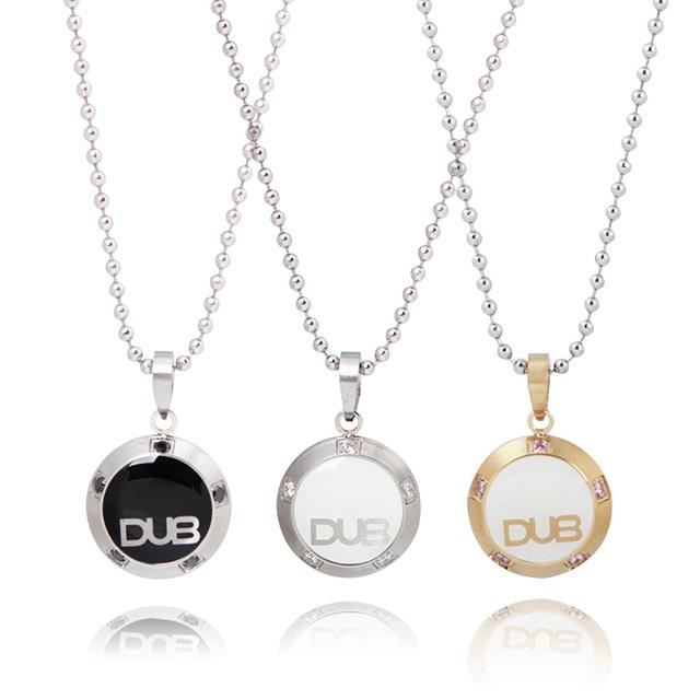 【DUB Collection│ダブコレクション】  DUBJSS-25-Pair stainless necklace ステンレスネックレス WHCZ ラウンド