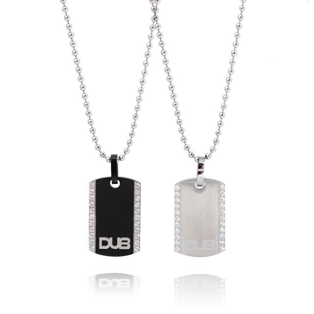 【DUB Collection│ダブコレクション】  DUBJSS-12-Pair stainless necklace ステンレスネックレス ドッグタグ型 WHCZ プレート