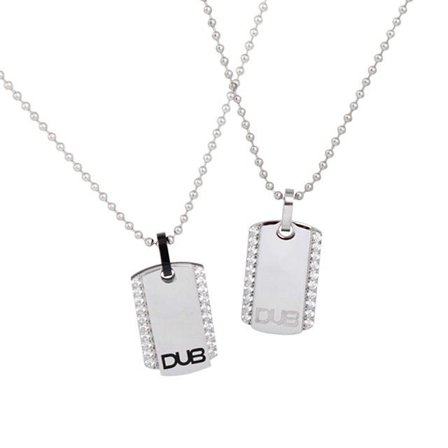 【DUB Collection│ダブコレクション】  DUBJSS-14-Pair stainless necklace ステンレスネックレス ドッグタグ型 2連プレート