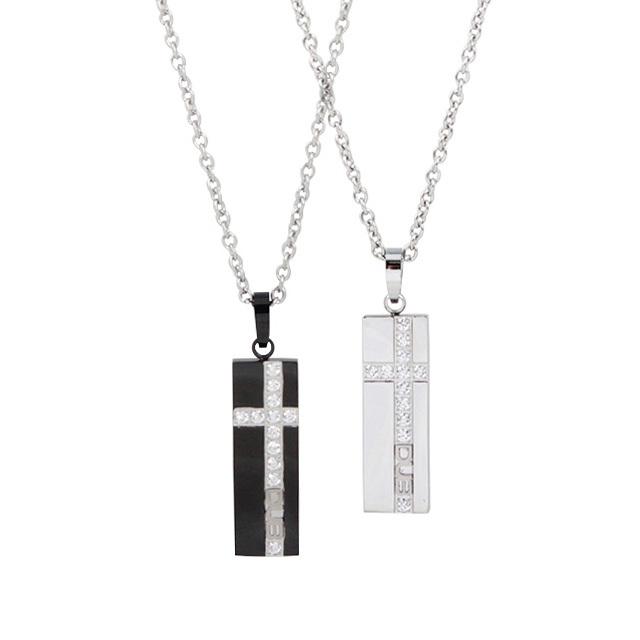 【DUB Collection│ダブコレクション】  DUBJSS-15-Pair stainless necklace ステンレスネックレス WHCZ クロスライン