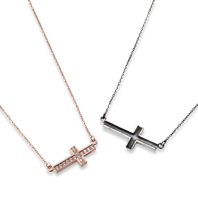 【DUB公式通販サイト限定】Side Cross Necklace Pair サイドクロスペアネックレス DUBjt-10-11【ペア】