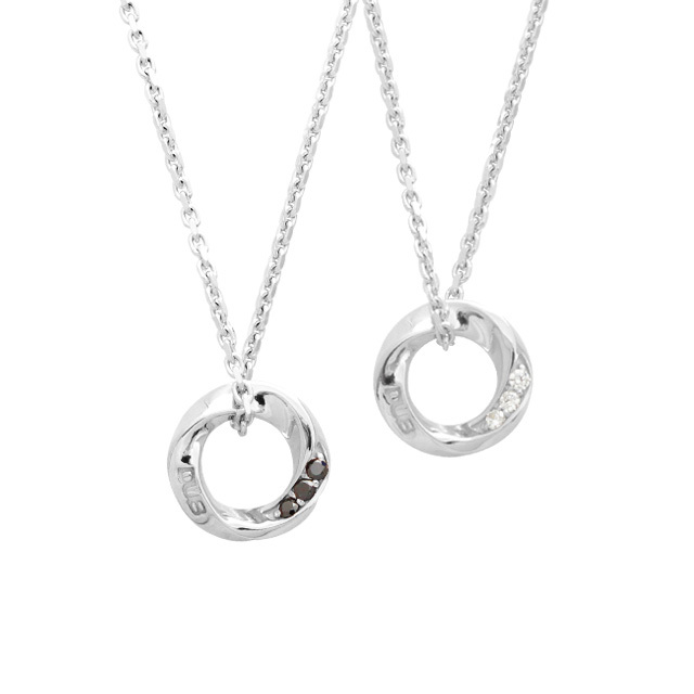 【DUB Collection│ダブコレクション】Eternal Circle Necklace エターナルサークルネックレス DUBj-367-1-2【ペアネックレス】