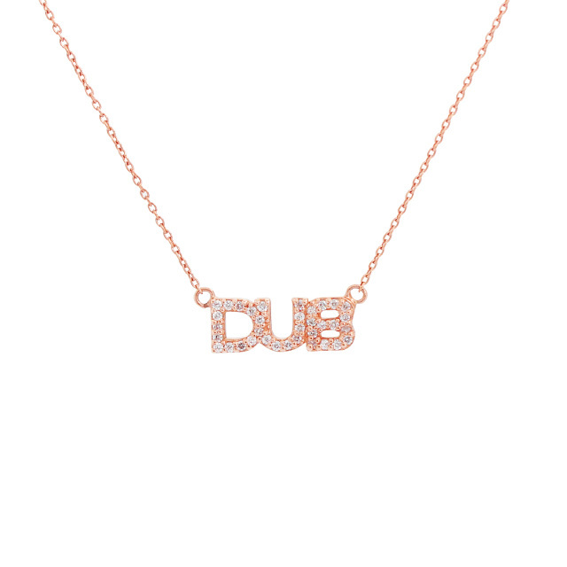 【DUB Collection Sweet|ダブスウィート】Tiny logo Necklace K10 ネックレス DUBjp-13 【レディース】