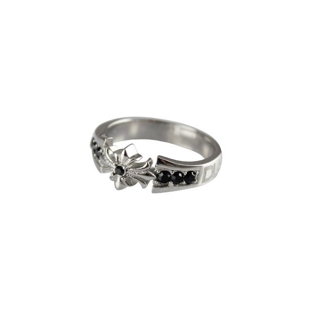 【DUB Collection│ダブコレクション】  DUBjss-36 Cross Ring ステンレスリング/BKCZ