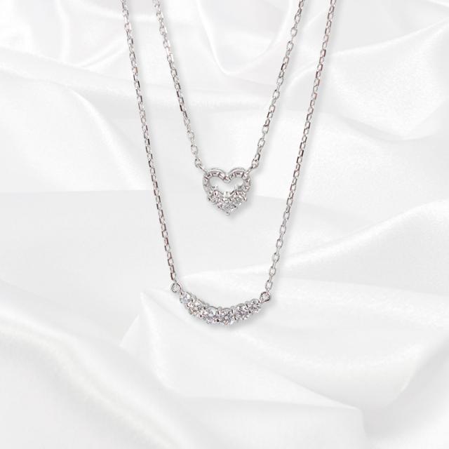 【一次生産分完売!二次予約受付中!】【kikira】Double Strand Necklace 2連ネックレス WH【小原優花model】