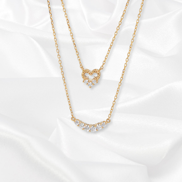 【一次生産分完売!二次予約受付中!】【kikira】Double Strand Necklace 2連ネックレス GD【小原優花model】