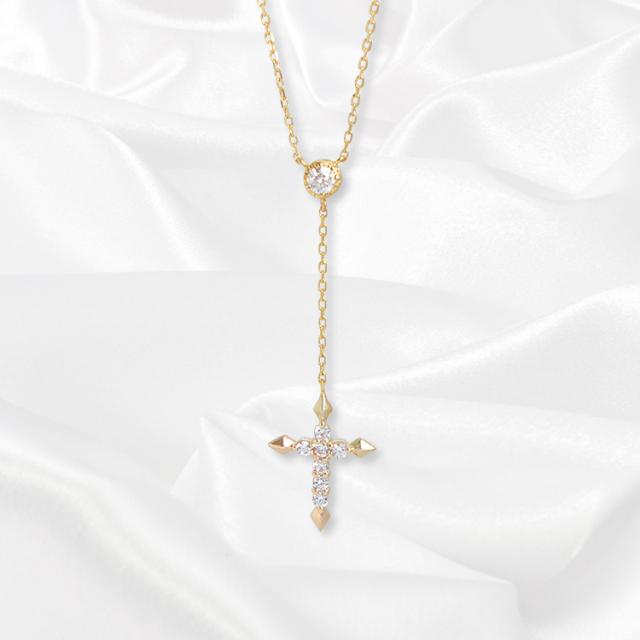 【一次生産分完売!二次予約受付中!】【kikira】Y-Shaped Necklace Y字ネックレス GD【桜井莉菜model】