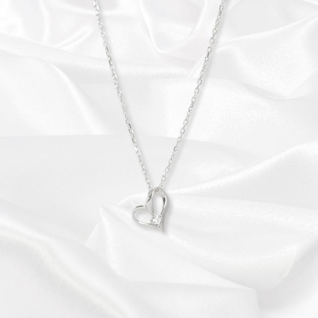 【一次生産分完売!二次予約受付中!】【kikira】Heart Necklace ハートネックレス WH