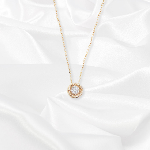 【kikira】Round Top Necklace ラウンドトップネックレス GD kkr,006,2