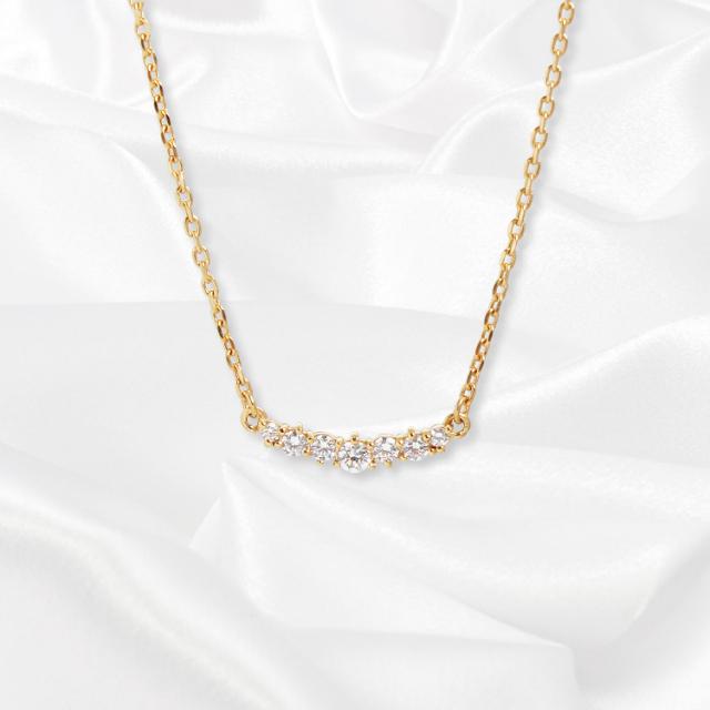 【一次生産分完売!二次予約受付中!】【kikira】Seven Stone Necklace 7粒ストーンネックレス GD