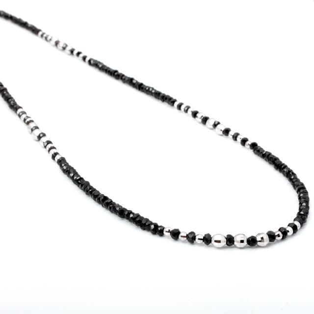 【DUB Luxury|ダブラグジュアリー】 Shine Black WG Small Necklace-Thin- シャインブラックホワイトゴールドネックレス|OD-2602【ユニセックス】