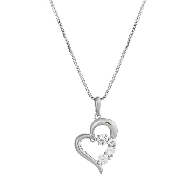 【Crossfor NewYork】D-3stone Heart Pendant(NYP-585)