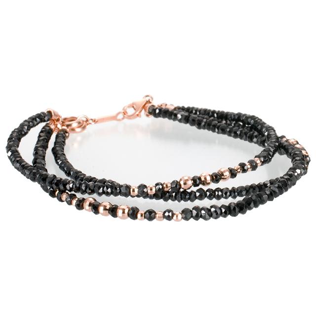 【DUB Luxury ダブラグジュアリー】Shine Black 3PG Bracelet シャインブラック3連ピンクゴールドブレスレット OD-2701【ユニセックス】