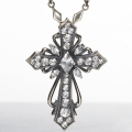 ��Luxury DUB�å饰���奢�꡼���֡�Antique cross pendant(white)���ڥ����ȥȥåס�OD-201(WH)�ۡ��������������̵��]��