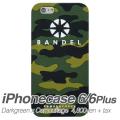 【BANDEL バンデル】BANDEL スマートフォンケース iPhonecase 6/6Plus対応(ダークグリーンカモフラージュロゴ)