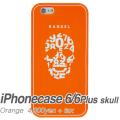 【BANDEL バンデル】BANDEL スマートフォンケース iPhonecase 6/6Plus対応(オレンジスカル)