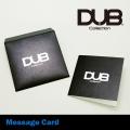 【DUB Collection|ダブコレクション】DUB original message card|メッセージカード【BK/ブラック】