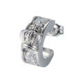 【DUB Collection│ダブコレクション】Crown hoop Pierced|DUBj-298-2(ホワイトCZ)【ユニセックス】