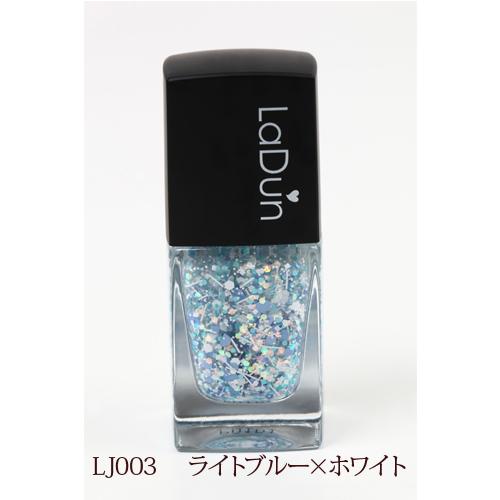 ジュエリーネイル LJ003 ライトブルー×ホワイト
