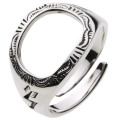 【シルバーアクセサリー リング・指輪】 ネイティブホールリング r0433