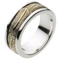 【シルバーアクセサリー リング・指輪】 ローリングフェザーリング r0435