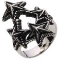 【ホワイトメタルアクセサリー リング・指輪】 クワトロスターリング r5056