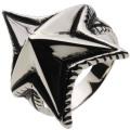 【ホワイトメタルアクセサリー リング・指輪】 スパイクスターリング r5057