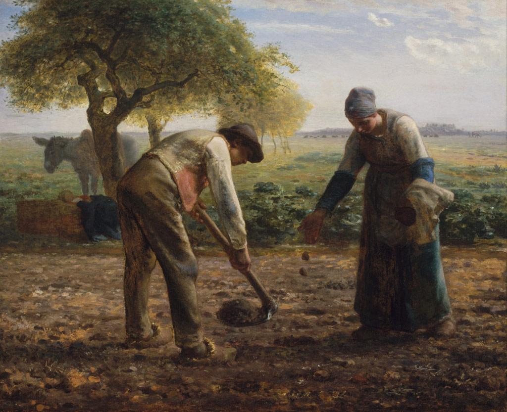 ジャン=フランソワ・ミレー馬鈴薯植え