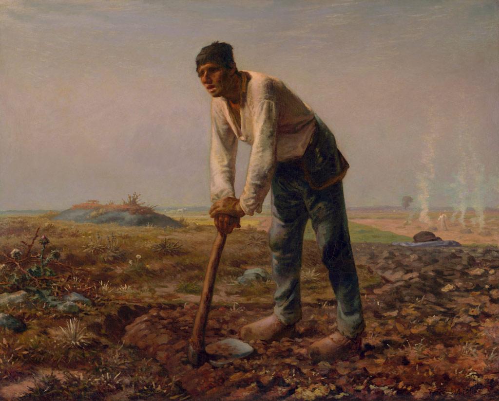 ジャン=フランソワ・ミレー鍬を持つ男
