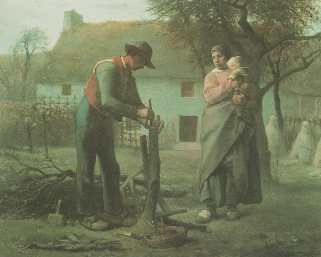 ジャン=フランソワ・ミレー接木をする農夫