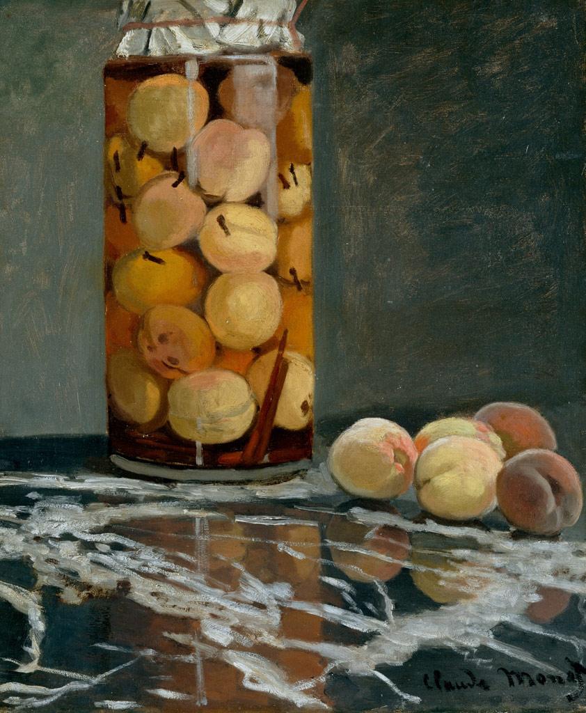 クロード・モネ桃の瓶