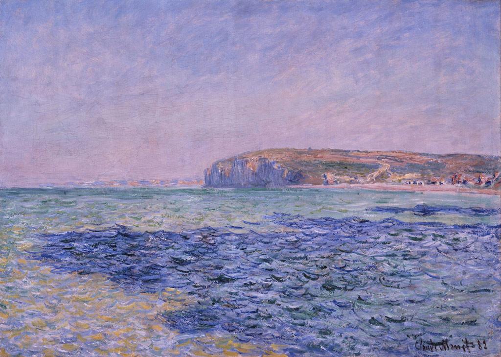 クロード・モネプールヴィルの海の影