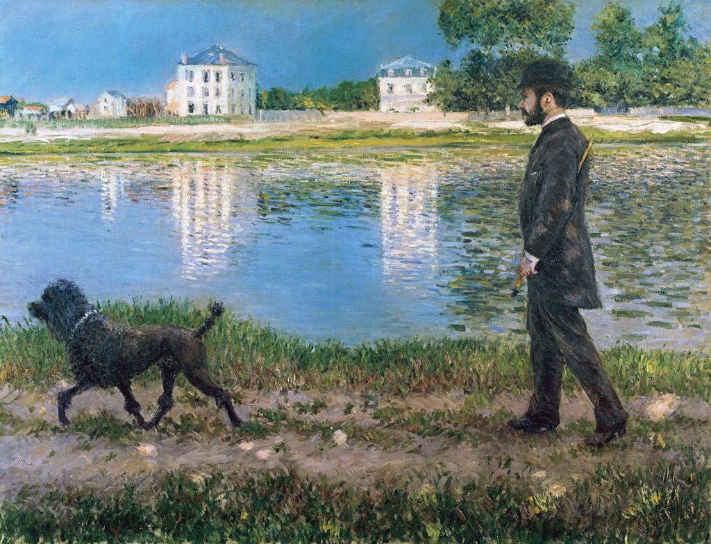 ギュスターヴ・カイユボットリチャード=ガロと犬