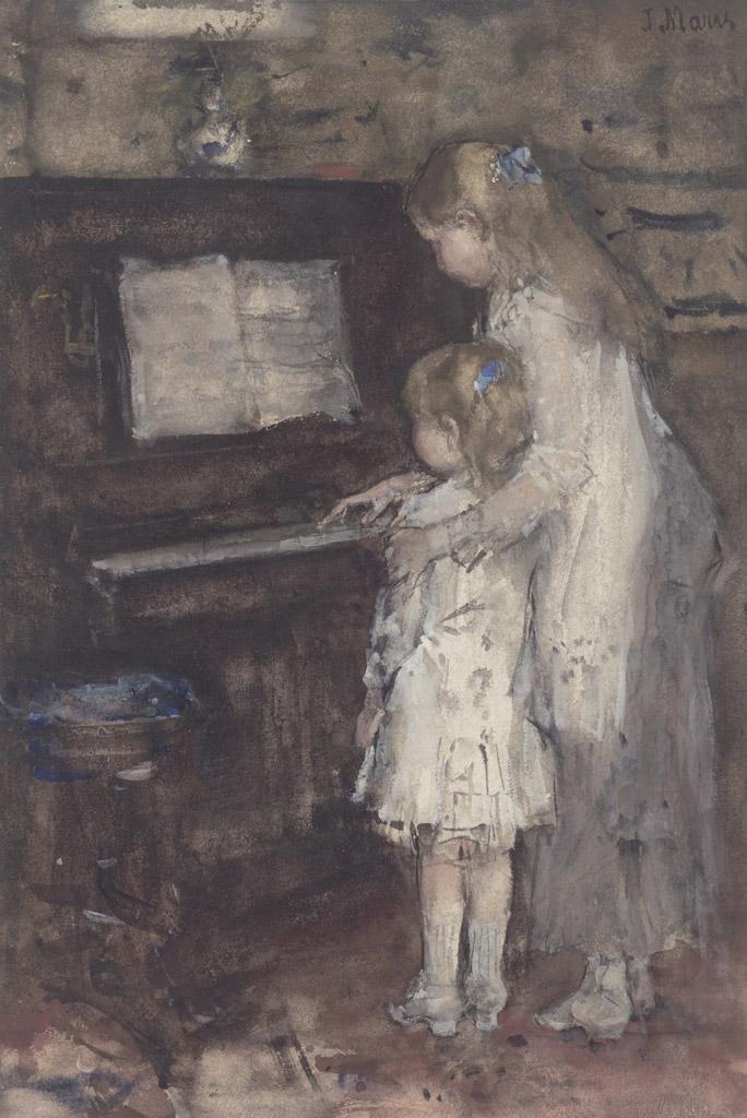 ヤコブ・マリスピアノの前の画家の娘たち