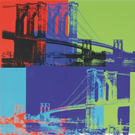 ブルックリン橋|Brooklyn Bridge, 1983 (オレンジ, ブルー, ライム)