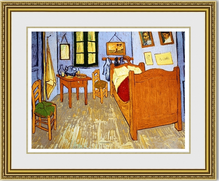 ゴッホ 「Van Gogh's Room of Arles」 額縁付き