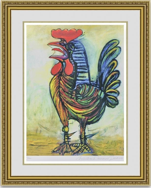 ピカソ 「The Rooster」 額縁付き