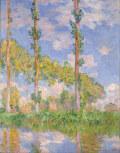 クロード・モネ陽を浴びるポプラ並木