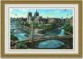 アレクサンダーチェン 「パリのノートルダム大聖堂」 額縁付き