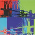 ブルックリン橋 Brooklyn Bridge, 1983 (オレンジ, ブルー, ライム)