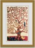 クリムト 「生命の樹」 額縁付き