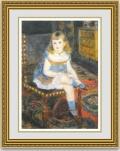 ルノワール「すわるジョルジェット・シャルパンティエ嬢」 額縁付き