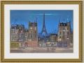 ドラクロワ 「Tour Eiffel la Nuit」 額縁付き